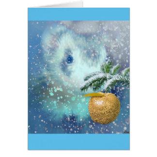 Winter-Frettchen-Weihnachtskarte Karte