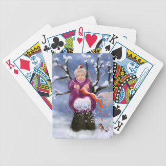 Winter Granny Großmutter von Inverno Bicycle Spielkarten