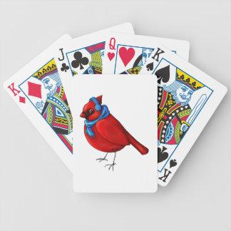 Winter-Kardinal Bicycle Spielkarten