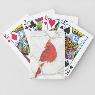 Winter-Kardinals-Zeichnen Bicycle Spielkarten
