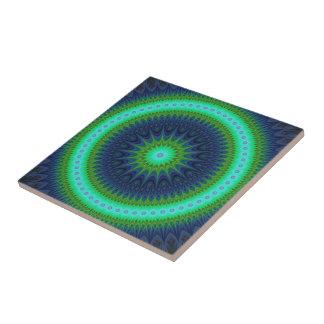 Winter-Mandala Kleine Quadratische Fliese