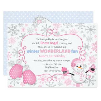 Winter-Märchenland-Geburtstags-Einladung Karte