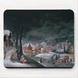 Winter (Öl auf Platte) (sehen Sie auch 166905, Mousepad