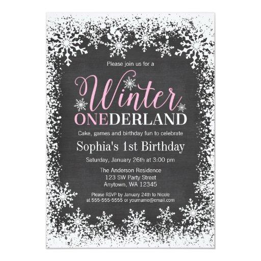winter onederland schnee tafel 1 geburtstag 12 7 x 17 8 cm einladungskarte zazzle. Black Bedroom Furniture Sets. Home Design Ideas