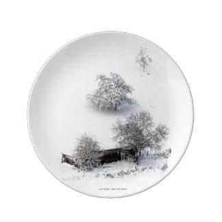 Winter - Photography Jean-Louis Glineur Teller Aus Porzellan
