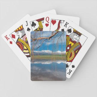 Winter-Reflexionen. Ceres, Boland Bezirk Pokerkarte