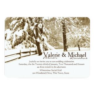 Winter-Ruhe-Hochzeit 12,7 X 17,8 Cm Einladungskarte