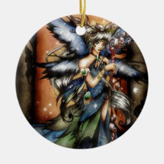 Winter Rundes Keramik Ornament