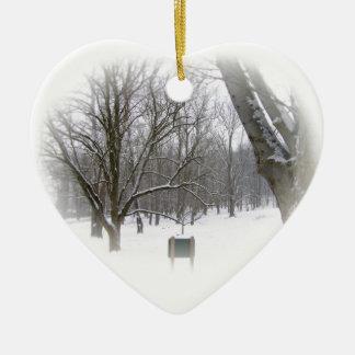 Winter-Schlaf Keramik Ornament