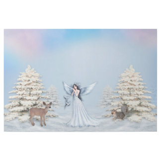 Winter-Schnee-Engel mit Regenbogen Squirr Galerieleinwand