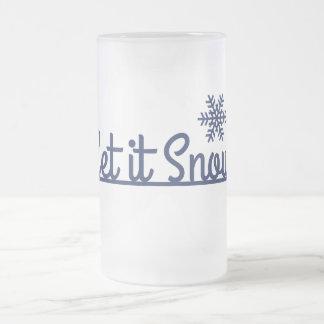Winter-Schneeflocke, Feiertag Mattglas Bierglas