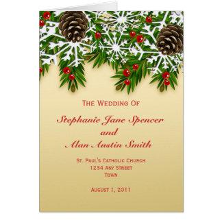 Winter-Szenen-Hochzeits-Programm Karte