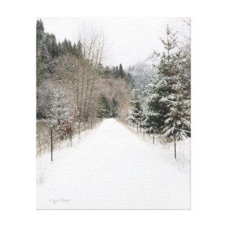 Winter-Weg Wallaces Idaho Leinwanddruck