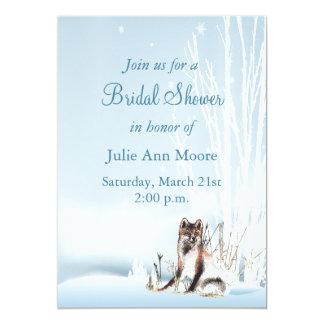 Winter-Wolf-Brautparty 12,7 X 17,8 Cm Einladungskarte