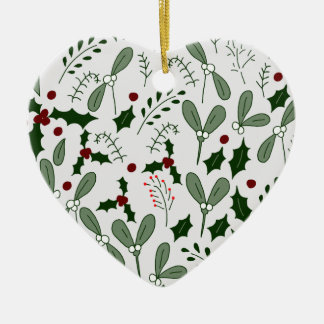 Winterbeeren Keramik Ornament