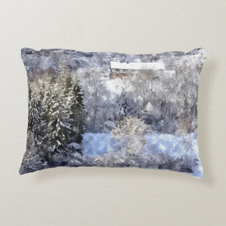 Winterlandschaft - created by Jean-Louis Glineur Zierkissen