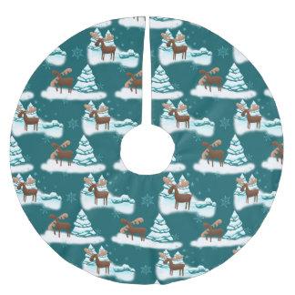Wintersaisonelche Feiertags-Baumrock Polyester Weihnachtsbaumdecke