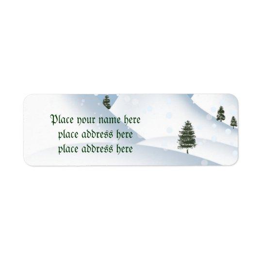 Winterschnee-Adressen-Etikett