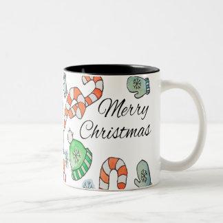 Winterurlaube Zweifarbige Tasse