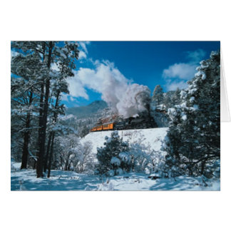 Winterzeit-Dampf Karte