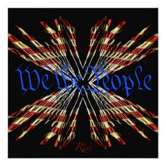 Wir die Leute - Aufstiegs-patriotisches Perfektes Poster