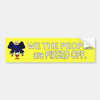Wir die Leute PISSED WEG Autoaufkleber