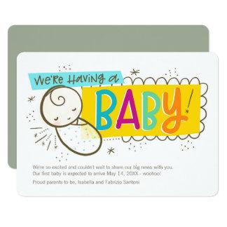 Wir haben ein Baby, Schwangerschafts-Mitteilung 12,7 X 17,8 Cm Einladungskarte