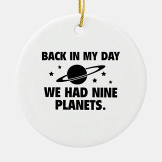 Wir hatten neun Planeten Rundes Keramik Ornament