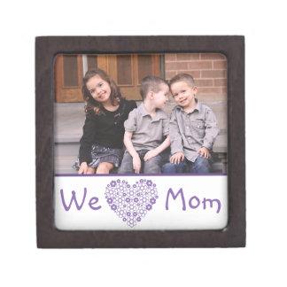 Wir Herz-Mamma-Foto-Geschenkboxen Kiste
