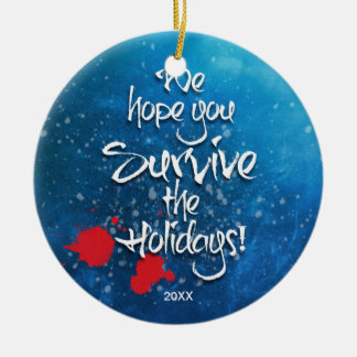 Wir hoffen, dass Sie das Feiertagsgewohnheitsjahr Keramik Ornament