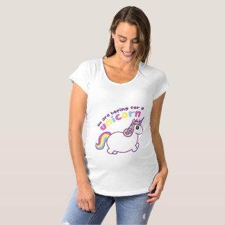 Wir hoffen für ein Unicorn-Mutterschafts-Shirt Umstands-T-Shirt