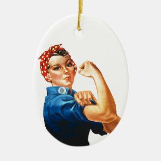 Wir können es tun Rosie der Ovales Keramik Ornament