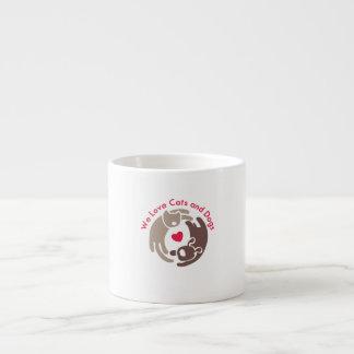 wir Liebekatzen und -hunde Espressotasse