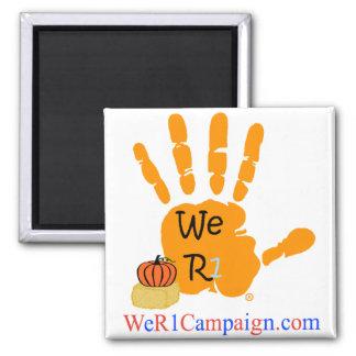 Wir R1 Halloween Handmagnet Quadratischer Magnet