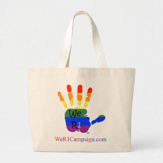 Wir (Regenbogen-Hand) Tasche der Taschen-R1