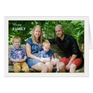 Wir sind Familie gefaltete Foto-Karte Karte
