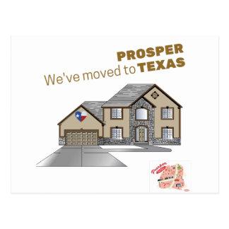 Wir sind umgezogen, um uns zu erweitern Texas Postkarte