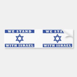 Wir stehen mit Israel! Autoaufkleber