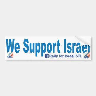 Wir stützen Israel Autoaufkleber