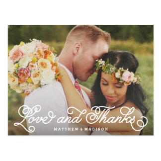 Wir tun | Wedding danken Ihnen Postkarte