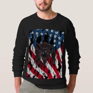 Wir vergessen nie langes Hülsen-Shirt Sweatshirt