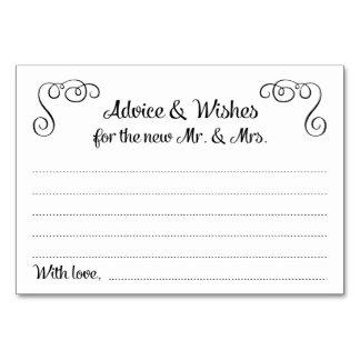 Wirbel Rat und Wunsch-Hochzeits-Karten
