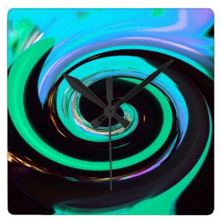 Wirbelnde Farben, Wirbelnde Farben Quadratische Wanduhr