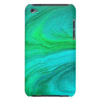 Wirbelnde grüne abstrakte Kunst Barely There iPod Etuis