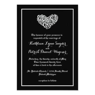 Wirble Herz-Hochzeit - Hochzeits-Einladung Karte