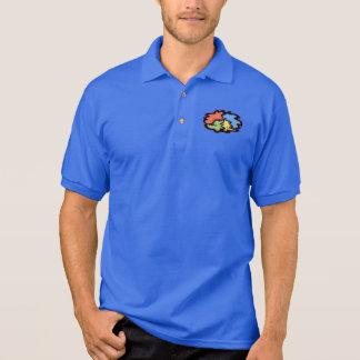 Wirble Linie Friedenszeichen Polo Shirt