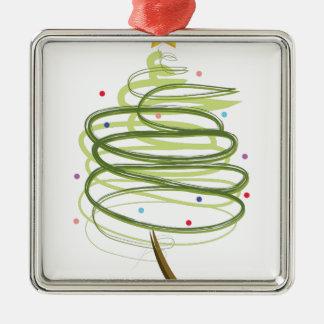 Wirbler Weihnachtsbaum Silbernes Ornament