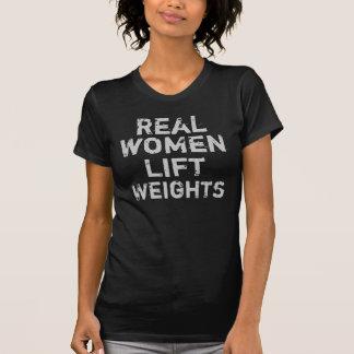 Wirkliche Frauen-Aufzug-Gewichte T-Shirt