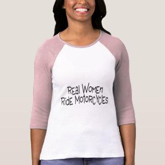 Wirkliche Frauen-Fahrmotorräder T-Shirt