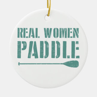 Wirkliche Frauen-Paddel Keramik Ornament